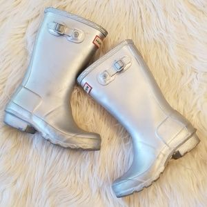 Kids silver hunter boots